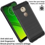 IMAK Vega Carbon Fiber Pattern Brushed TPU Mobile Phone Casing for Motorola Moto G7 Play (EU Version)