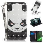 Pattern Printing Light Spot Decor Leather Wallet Case for Motorola Moto G7 / G7 Plus – Panda Pattern