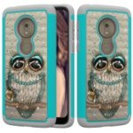 Patterned Rhinestone Decor PC TPU Cell Phone Cover for Motorola Moto G7 Play (US Version) – Owl
