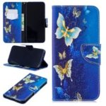 Pattern Printing Leather Wallet Case for Xiaomi Redmi Note 7 / Note 7 Pro (India) – Butterfly Pattern