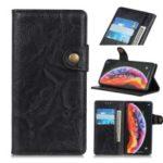 S Shape Crazy Horse PU Leather Stand Case for Xiaomi Mi 9 – Black