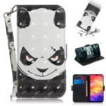 Pattern Printing Light Spot Decor Leather Wallet Case for Xiaomi Redmi Note 7 / Note 7 Pro (India) – Panda Pattern
