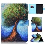 Pattern Printing PU Leather Flip Case [Auto Wake / Sleep] for Amazon Kindle Paperwhite 4 (2018) – Tree