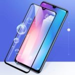 BASEUS for Xiaomi Mi 9 [Anti-blue-ray] 0.3mm Curved Full Size Tempered Glass Screen Protector Film – Black