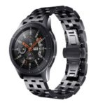 Stainless Steel Watch Band Wrist Strap Replacement for Samsung Galaxy Watch 46mm – Black