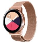 20mm Magnetic Milanese Stainless Steel Watch Band for Samsung Galaxy Watch Active SM-R500 – Rose Gold