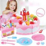 Kids Birthday Luxury Fruit Cake Set Educational Toy Children Playset (50PCS)