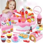 Simulation Cutting Cake Toy Educational Playset for Children (80PCS)