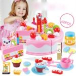 Cake Toy Cutting Educational Simulation Playset for Children (66PCS)