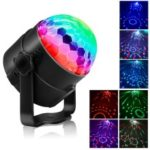YOUOKLIGHT 7 Light Molds LED RGB Rotating DJ Disco Party Ball Light –  US Plug