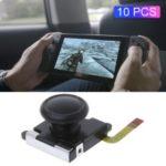 10Pcs/Pack 3D Analog Joystick Thumb Sticks Sensor Replacements for Nintendo Switch Joy-Con Controller – Black
