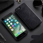 X-LEVEL Vintage Style PU Leather Coated TPU Phone Case for iPhone 6 Plus / 6s Plus – Black