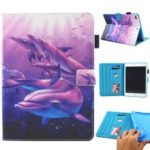 Patterned Leather Stand Smart Flip Case for iPad mini (2019) 7.9 inch – Dolphin