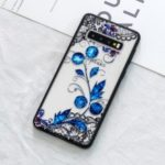 Lace Embossment Pattern PC TPU Hybrid Case for Samsung Galaxy S10 –  Butterfly and Floret
