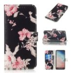 Pattern Printing Wallet Stand PU Leather Case for Samsung Galaxy S10 – Pretty Flower