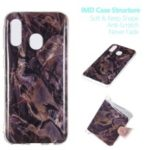Marble Pattern IMD TPU Cover Shell Case for Samsung Galaxy A40 – Style R