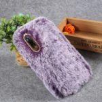 Soft Fur Coated Rhinestone TPU Case for Samsung Galaxy A50 – Purple