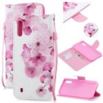 Pattern Printing Leather Wallet Case for Samsung Galaxy M10 – Pretty Flower