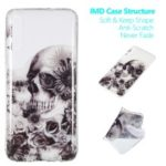 Pattern Printing IMD TPU Case for Samsung Galaxy A70 – Skull and Flower