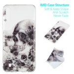 Pattern Printing IMD TPU Case for Samsung Galaxy M10 – Skull and Flower