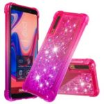 Gradient Glitter Powder Quicksand TPU Shell Case for Samsung Galaxy A7 (2018) – Rose / Purple