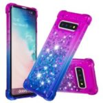Gradient Glitter Powder Quicksand TPU Case for Samsung Galaxy S10 – Purple / Blue