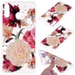 Glitter Sequins Inlaid Patterned TPU Phone Cover for Samsung Galaxy M30 – Pretty Flowers