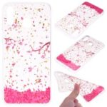 Glitter Sequins Inlaid Patterned TPU Phone Cover for Samsung Galaxy M30 – Falling Flowers