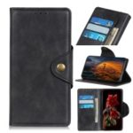PU Leather Copper Buckle Wallet Stand Mobile Case for Samsung Galaxy A60 – Black