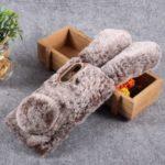 Rabbit Shape Fluffy Fur Coated Rhinestone TPU Mobile Cover for Huawei nova 4 – Coffee