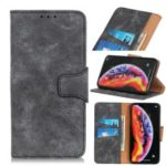 Vintage Style Wallet Stand Split Leather Phone Case for Huawei Y6 (2019) – Grey