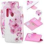 Pattern Printing Leather Wallet Case for Huawei P30 Lite / nova 4e – Pretty Flower