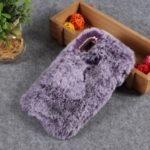 Soft Fur Coated Rhinestone TPU Case for Huawei Y7 (2019) – Purple