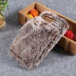 Soft Faux Fur Coated Rhinestone TPU Case for Huawei Honor View 20 / Honor V20 – Coffee