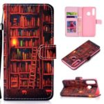 Patterned Leather Wallet Protection Cover for Huawei P30 Lite / nova 4e – Bookshelf