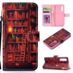 Pattern Printing Leather Wallet Stand Case for Huawei P30 – Bookshelf