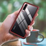 LOVE MEI Shadow Series Shockproof Tempered Glass Protection Case for Huawei P30 – Red