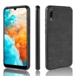 Leather Coated TPU Case for Huawei Y6 Pro (2019) / Enjoy 9e – Black