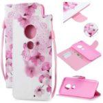 Pattern Printing Leather Wallet Case for Motorola Moto G7 / G7 Plus – Pretty Flower