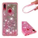 Glitter Powder Quicksand Shockproof TPU Gel Casing for Xiaomi Redmi Note 7 / Note 7 Pro (India) – Red