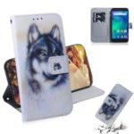 Pattern Printing Wallet Protective Leather Case for Xiaomi Redmi Go – Wolf