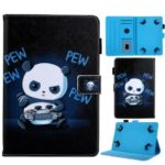 Universal 7-inch Animal Patterned Tablet PU Leather Card Holder Case for Galaxy Tab A 7.0 / Lenovo Tab3 7 Plus, etc – Panda