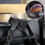 BASEUS Car Rear Seat Headrest Phone Bracket Holder for 4.0-6.5 inch Smartphone – Black
