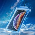 BASEUS Airbag Underwater Mobile Phone Waterproof Case, Size: 19.7×10.5cm – Blue