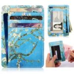 Patterned Multi-slot RFID Blocking PU Leather Cash Card ID Holder Purse Bag – Wintersweet