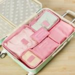 6Pcs/Set Travel Storage Bag Clothes Tidy Luggage Organizer Pouch Bag – Pink