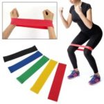 5Pcs/Pack Nature Latex Loop Resistance Bands Yoga Tension Elastic Rubber Band