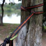 Single 2.8m 10 Node Outdoor Camping Hammock Hanging Nylon Rope Strong Strap – Orange