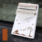 17 Key Finger Percussion Instrument Wooden Kalimba Thumb Piano with Accessories – Musical note