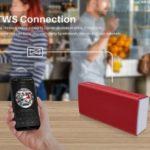 Music Box Wireless Speaker Outdoor Waterproof Bluetooth Speaker TWS Connection – Red